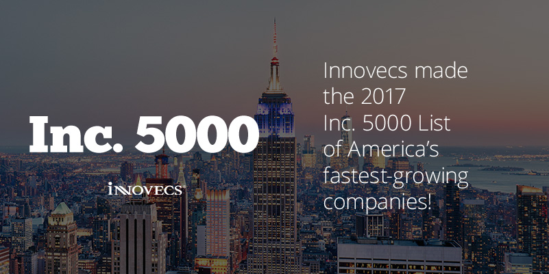 inc5000 sitepost - Innovecs Named one of the 2017 Inc.5000 Fastest-Growing Companies